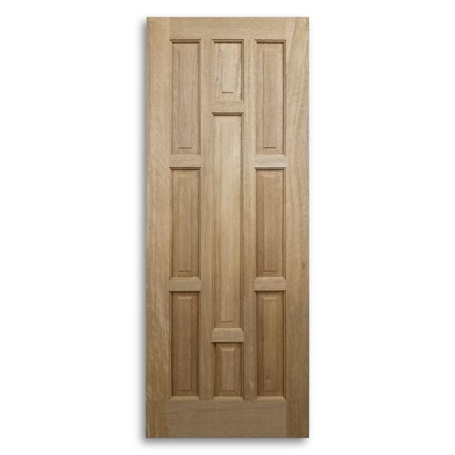 9 Panel Mahogany Exterior Door 30inch X 80inch Home Surplus