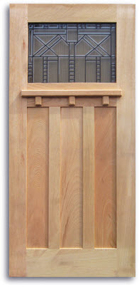 Craftsman Style Oak Exterior Door - 36\