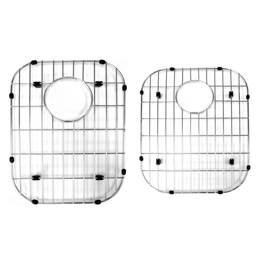 - Stainless Steel Sink Protector Grid; For 60/40 Double Bowl: Home