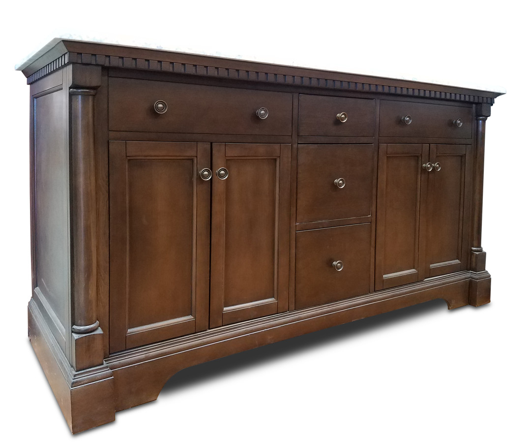 Claudia Vanity 60w X 21d Antique Coffee With Top And