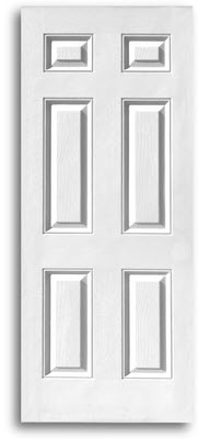 Merveilleux Colonial 6 Panel Door