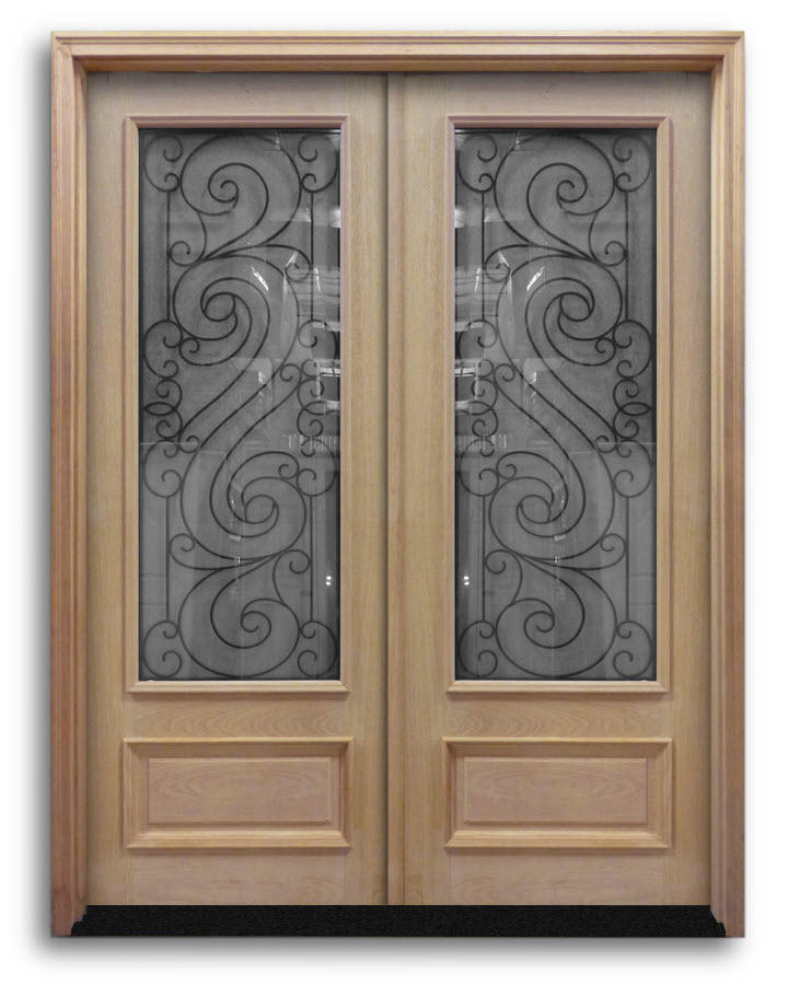 Prehung Oak Exterior Double Doors Dice 6ft X 8ft