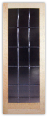 ODESSA 15 Lite V Groove Bevel Cut Glass Door 32w X 80h