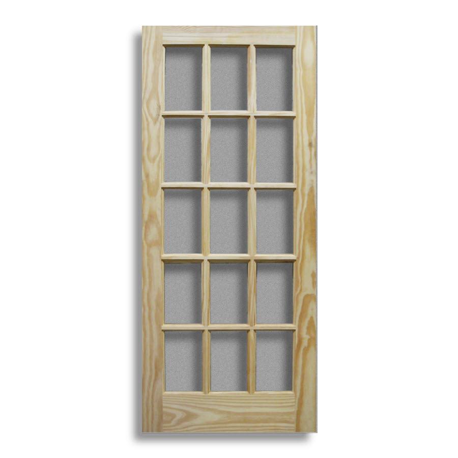 Pine Interior French Door 15 Lite 36w