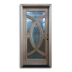 Pre-Hung Mahogany Exterior Door with Reeded Glass: Home Surplus