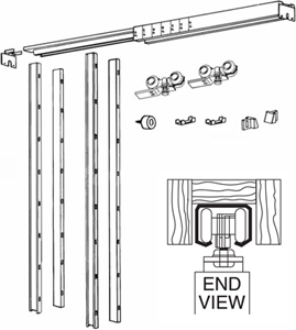 Pocket Door Frame Kit Heavy Duty 125lbs