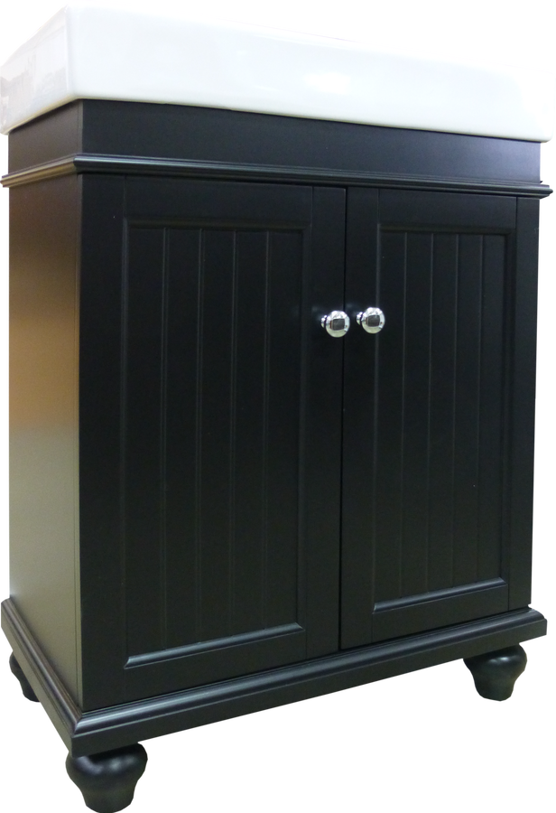 Amber Combo Vanity 24w X 14d X 34h Black With Top Home Surplus