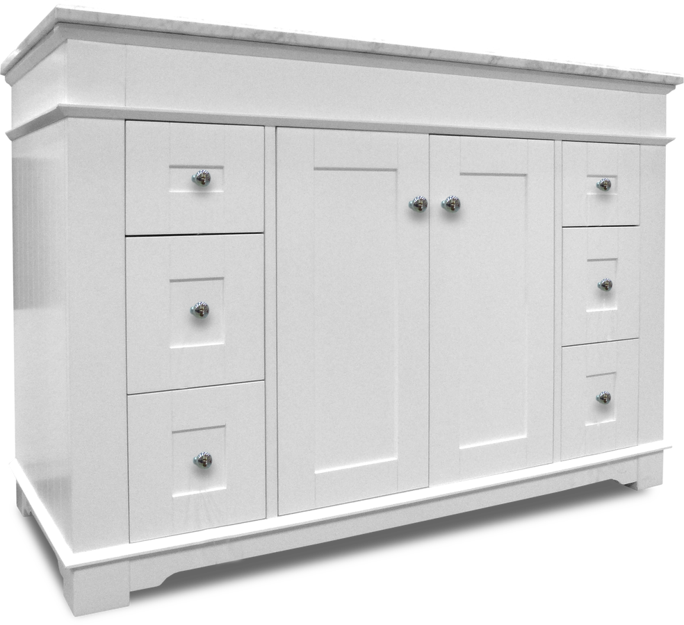"Newcastle Vanity 48""w X 22""d With Carrara Marble Top"