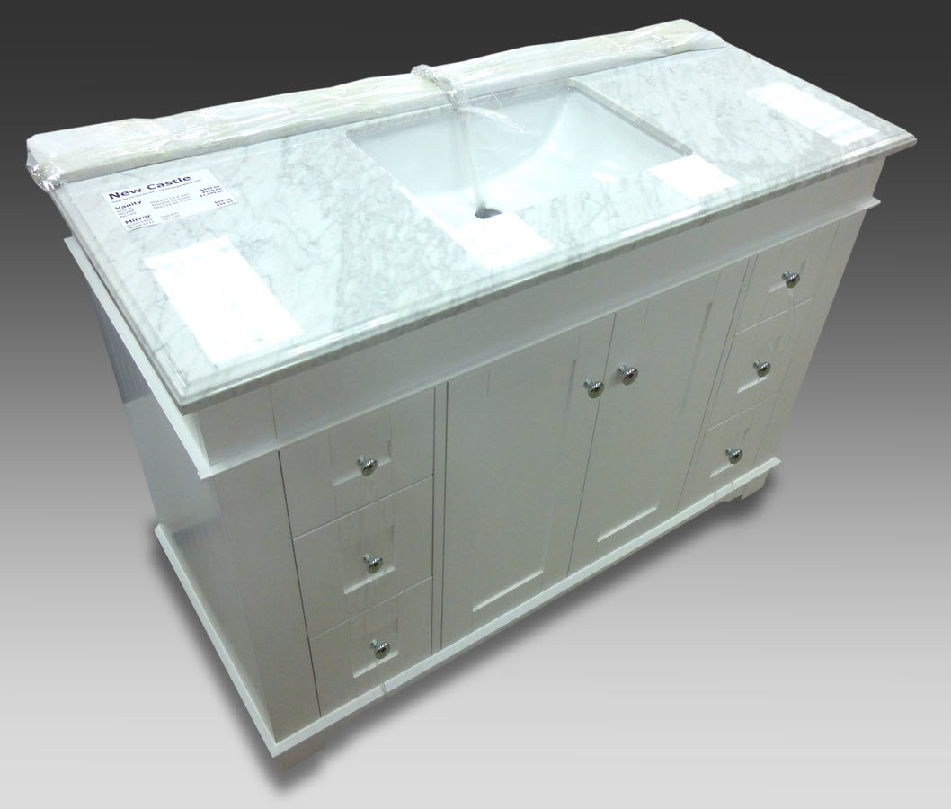Newcastle Vanity 48 Quot W X 22 Quot D With Carrara Marble Top