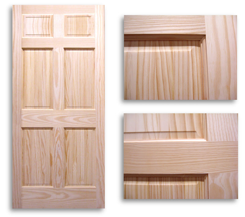 Home / Doors / Interior Doors / Solid Wood Pine Doors / 6 Panel ...