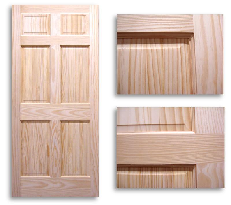 6 panel pine door 28w80h home surplus - 6 panel pine interior prehung doors ...