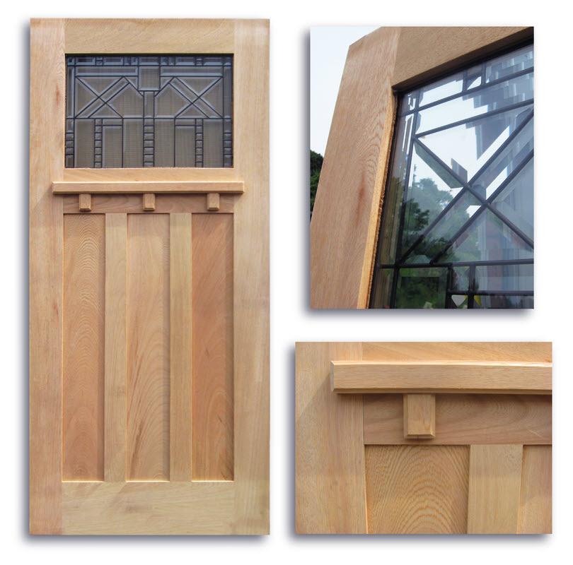 Craftsman Style Oak Exterior Door 36 X 80 1 Toplite Slab