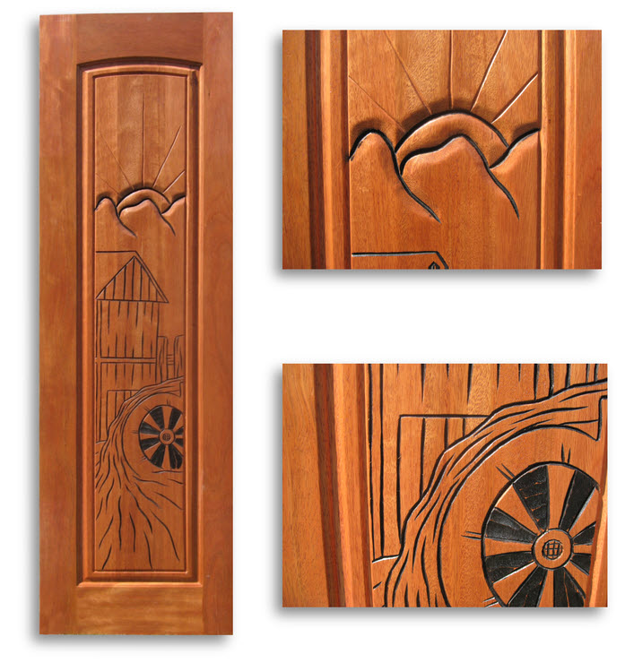 Pre finished carved mahogany interior door 24w x 80h home - Prefinished mahogany interior doors ...