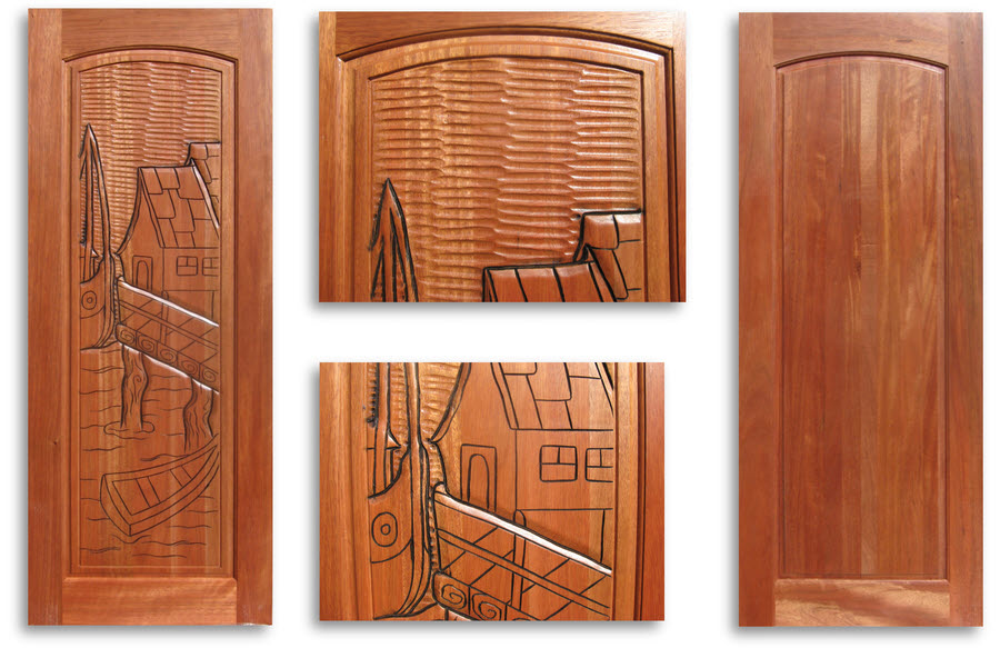 Pre finished carved mahogany interior door 32w x 80h home - Prefinished mahogany interior doors ...