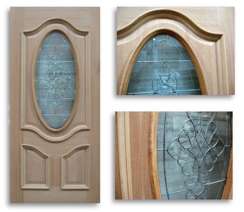 Home / Doors / Exterior Doors / Red Oak Exterior Doors / Oak 3qtr Oval /  Zinc Caming