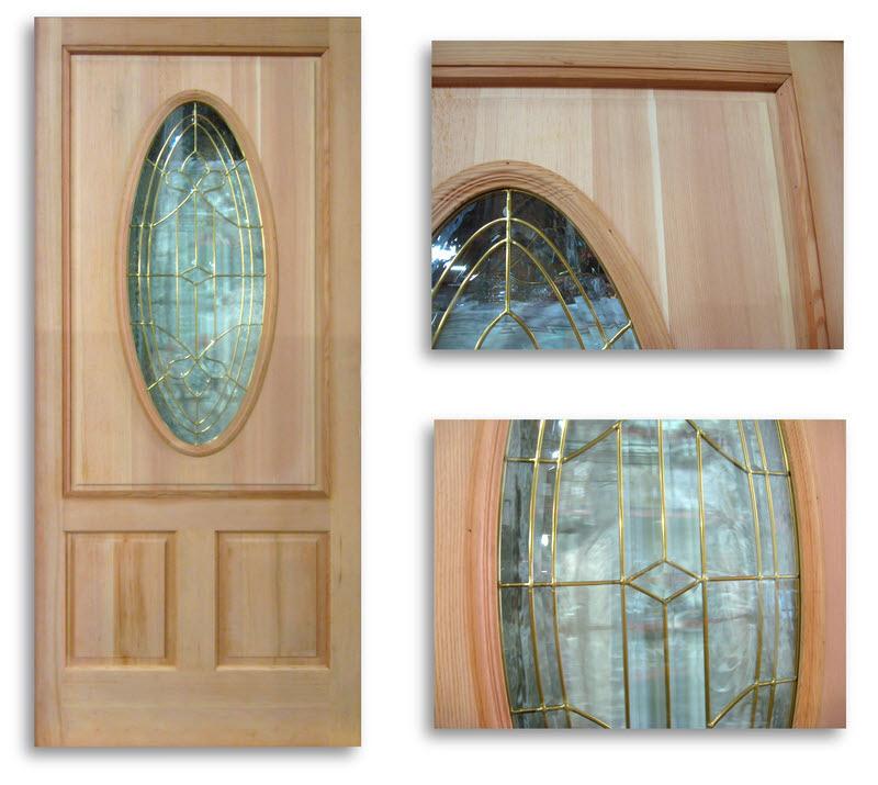 Exterior Fir Door Brass Caming 36w 80h Slab Only Home Surplus