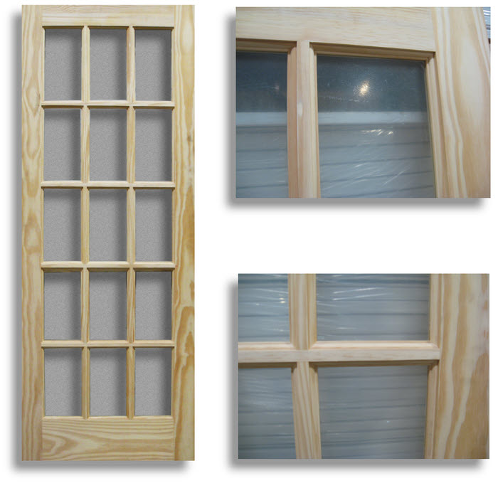 Pine Interior French Door 15 Lite 36w Home Surplus