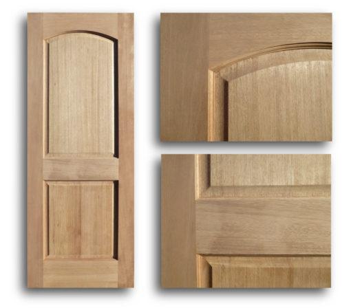 Arched 2 Panel Mahogany Interior Door 36w 80h Home Surplus