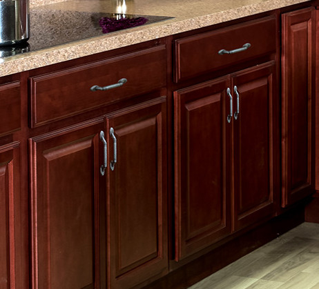 Our Landmark Brandy cabinets will give your kitchen a classic look at an affordable price.